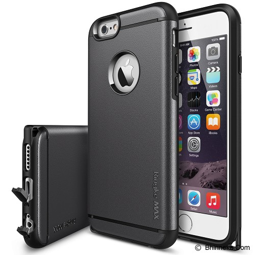 REARTH Ringke MAX Apple iPhone 6 [RMAP003] - Gun Metal - Casing Handphone / Case